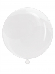 Ballon bulles transparent 25 cm
