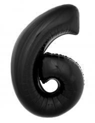 Ballon aluminium géant chiffre 6 noir 1 m