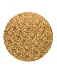 Plateau pour gâteau rond doré 40 cm