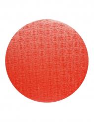 Plateau pour gâteau rond rouge 40 cm