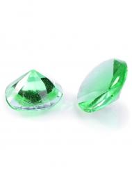 20 Petits diamants en gélatine vert