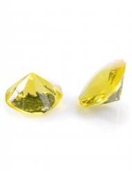 20 Petits diamants en gélatine jaune
