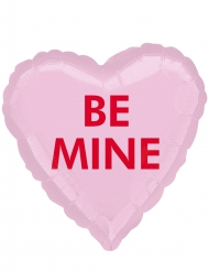 Ballon aluminium coeur rose Be Mine 43 cm