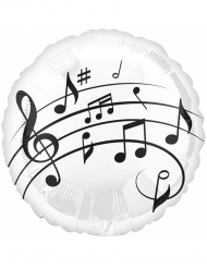 Ballon aluminium notes de musique 43 cm