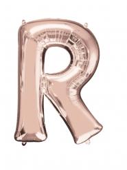 Ballon aluminium Lettre R rose gold 58 x 81 cm