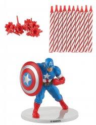 Kit bougie d'anniversaire Captain America ™