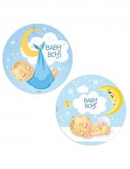 Disque azyme Baby Shower garçon 20 cm