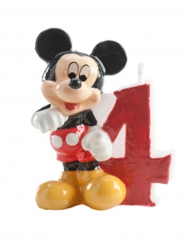 Bougie chiffre 4 Mickey™ 6.5 cm