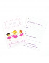 6 Cartons d'invitation avec enveloppes Ballerines 10 x 15 cm