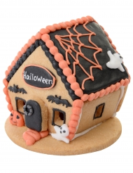 Figurine Petite maison Halloween biscuit 7,5 x 7,5 cm aléatoire