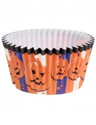 6 Moules à cupcake en papier Halloween 3,5 x 5 cm