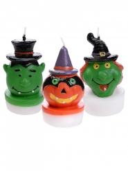 3 Bougies Halloween 3,5 x 6 cm