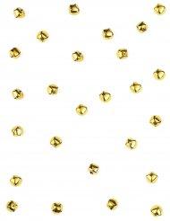 50 Confettis mini clochettes dorées 1 cm