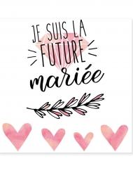 Tatouage éphémère future mariée 80 mm