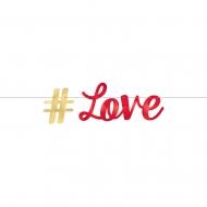 Guirlande lettres métallisée #LOVE 365 x 15 cm