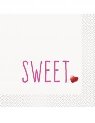 16 Serviettes en papier Sweet métallisé 33 x 33 cm