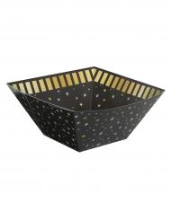 Bol carré cartonné noir et doré 22 x 10 cm