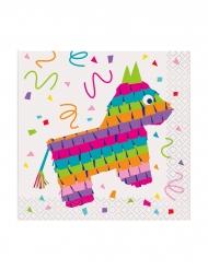 16 Petites serviettes en papier Piñata 25 x 25 cm