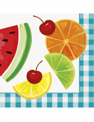16 Serviettes en papier Fruits 33 x 33 cm