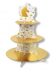 Présentoir à cupcakes en carton Licorne 41 cm