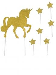 Accessoires de décoration pour gâteau Licorne et étoiles