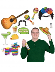 Kit photobooth thème Mexique 13 pièces