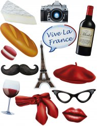 13 Accessoires pour Photobooth thème Français