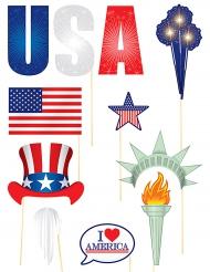 11 Accessoires pour Photobooth thème USA