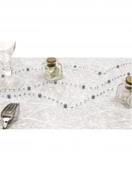 Guirlande de perles grise 2,5 m