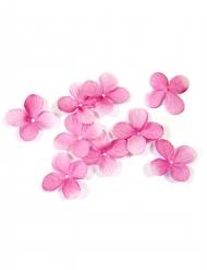 24 Décorations de table Pétales de fleurs fuchsia 3 cm