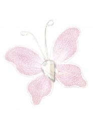 10 Petits papillons décoratifs rose 2 x 3 cm