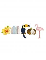 10 Confettis de table en bois Tropique 5 et 3 cm