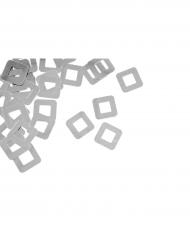 Confettis de table carré ajouré argenté 10 g