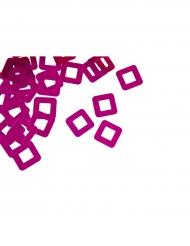 Confettis de table carré ajouré fuchsia 10 g