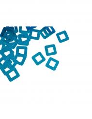 Confettis de table carré ajouré turquoise 10 grs