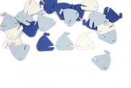 20 Confettis de table Voilier bleu 10 g