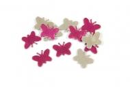 30 Confettis de table Papillon fuchsia 10 g