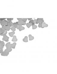 Confettis de table Cœur argenté 10 g