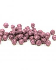 160 Mini boules pailletées rose 8 mm
