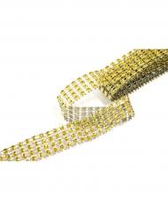 Ruban strass doré 1,8 m x 2 cm