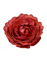 Décoration de table Rose ancienne rouge 12 cm