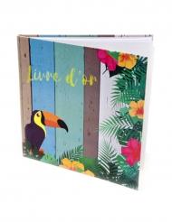 Livre d'or Tropique 40 pages 20 x 20 cm