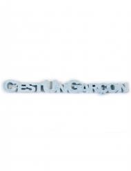 Décoration de table C'est un Garçon bleu 21 x 2,5 x 0,9 cm