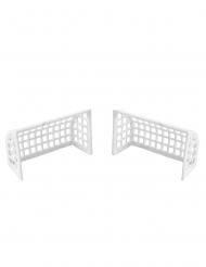 2 Cages de foot blanches 7 x 4,5 x 2,8 cm