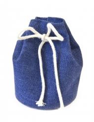 4 Sacs marin bleu royal 6,5 x 5 cm