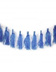 Guirlande de 20 tassel bleu 4 m