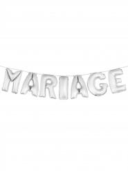Ballons lettre MARIAGE argent 36 cm
