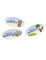 Confettis de table en papier Vive la Retraite 4 x 3 cm
