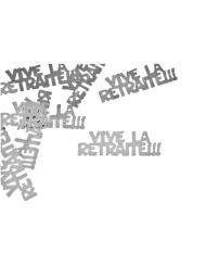 Confettis de table Vive la Retraite argenté 10 grs