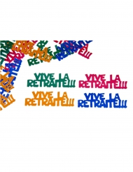 Confettis de table Vive la Retraite multicolore 10 g